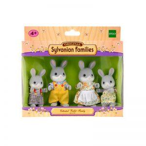 Famiglia Conigli Grigi Sylvanian Families