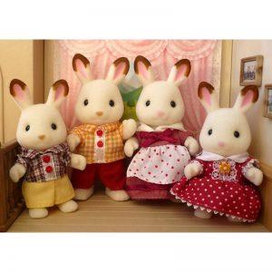 Famiglia Conigli Cioccolato Sylvanian Families