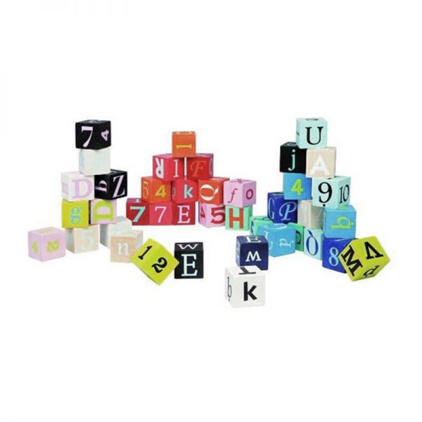 Cubi Lettere e Numeri 40 pz Janod