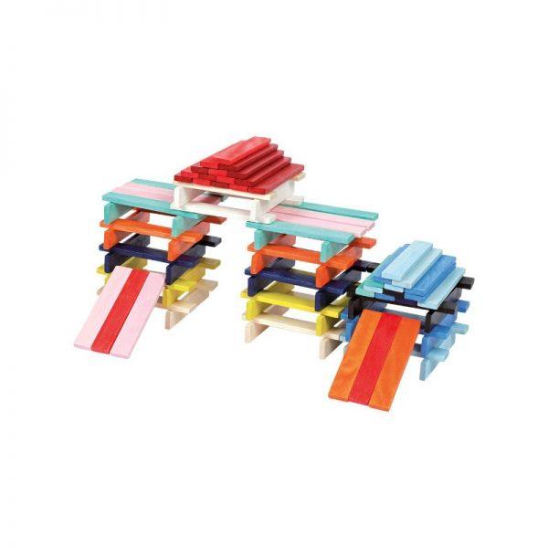 Costruzioni listelli colorati 100 pz Janod