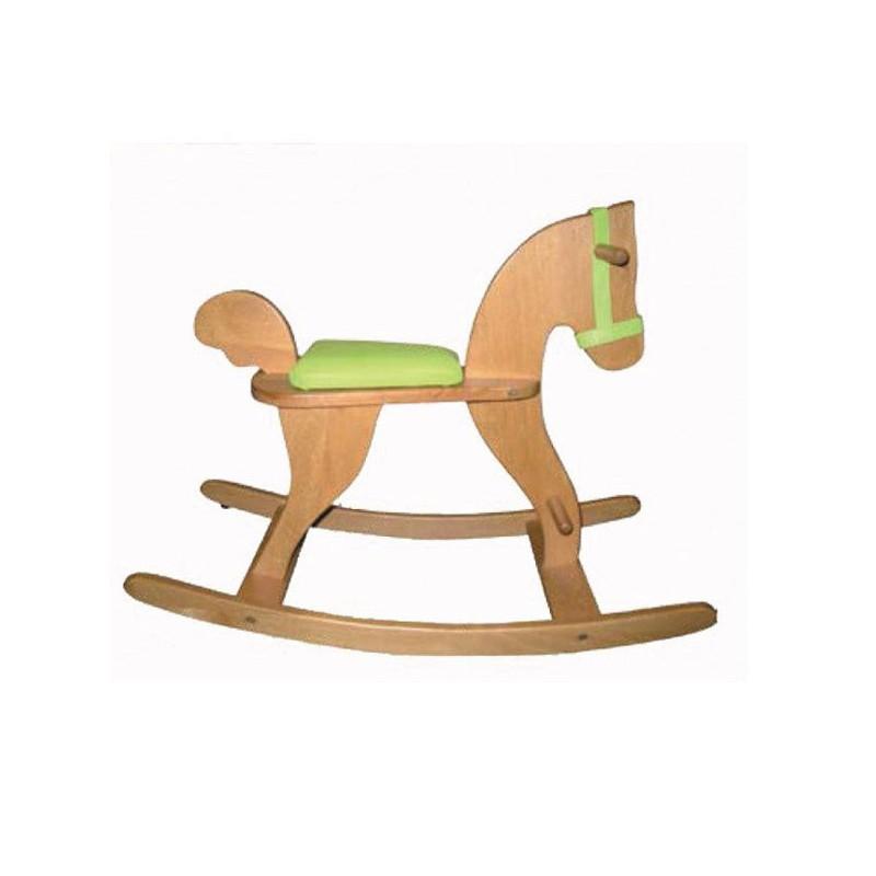 Cavallo a dondolo Classico verde, Moulin Roty