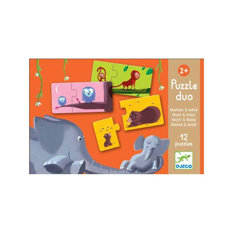 Puzzle Duo Mamme e Cuccioli Djeco