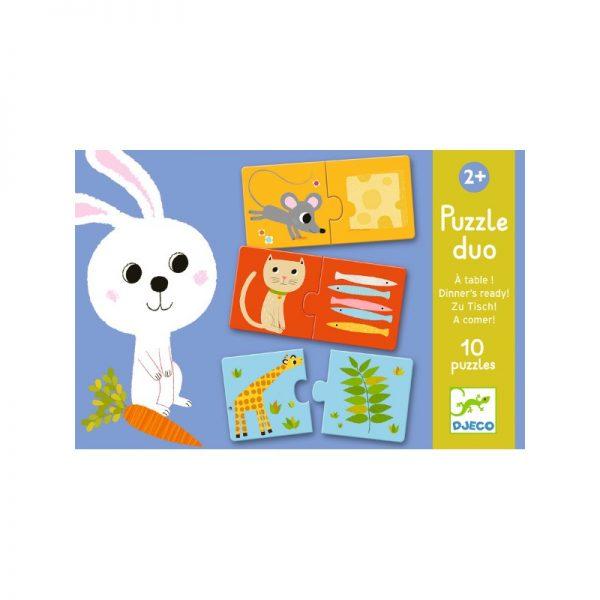 Puzzle Duo A Tavola Djeco