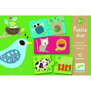 Puzzle Duo Habitat Djeco