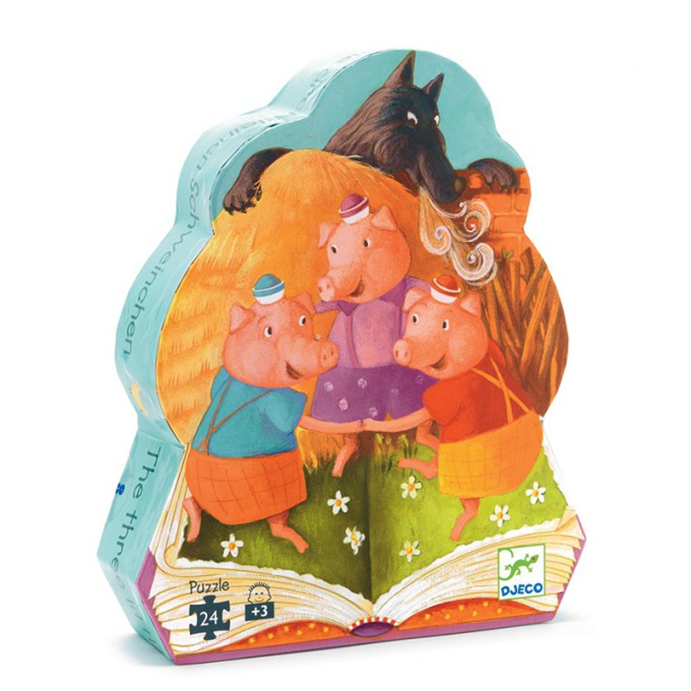 Puzzle 24 pz 3 Porcellini Djeco