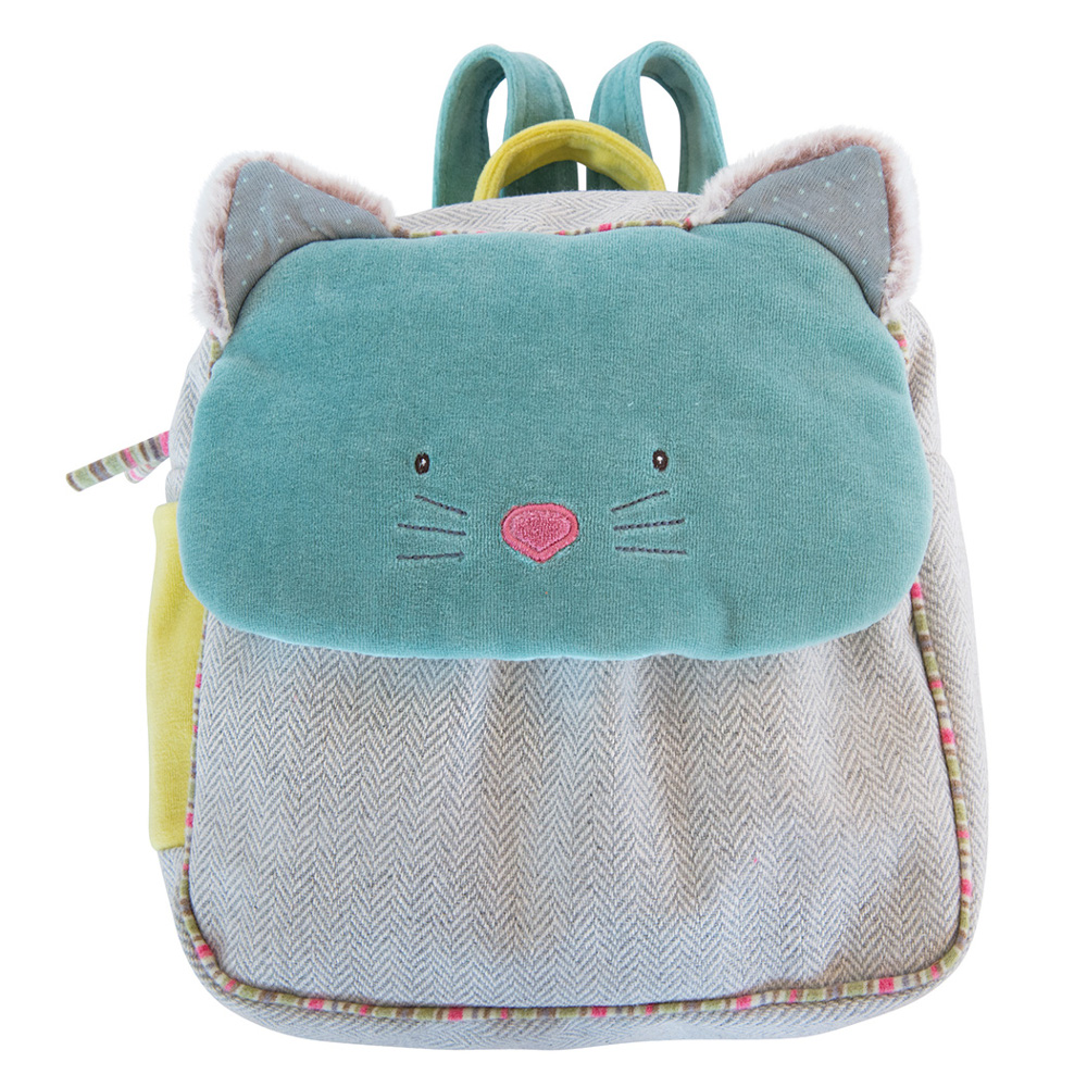 Backpack Green Cat Moulin Roty