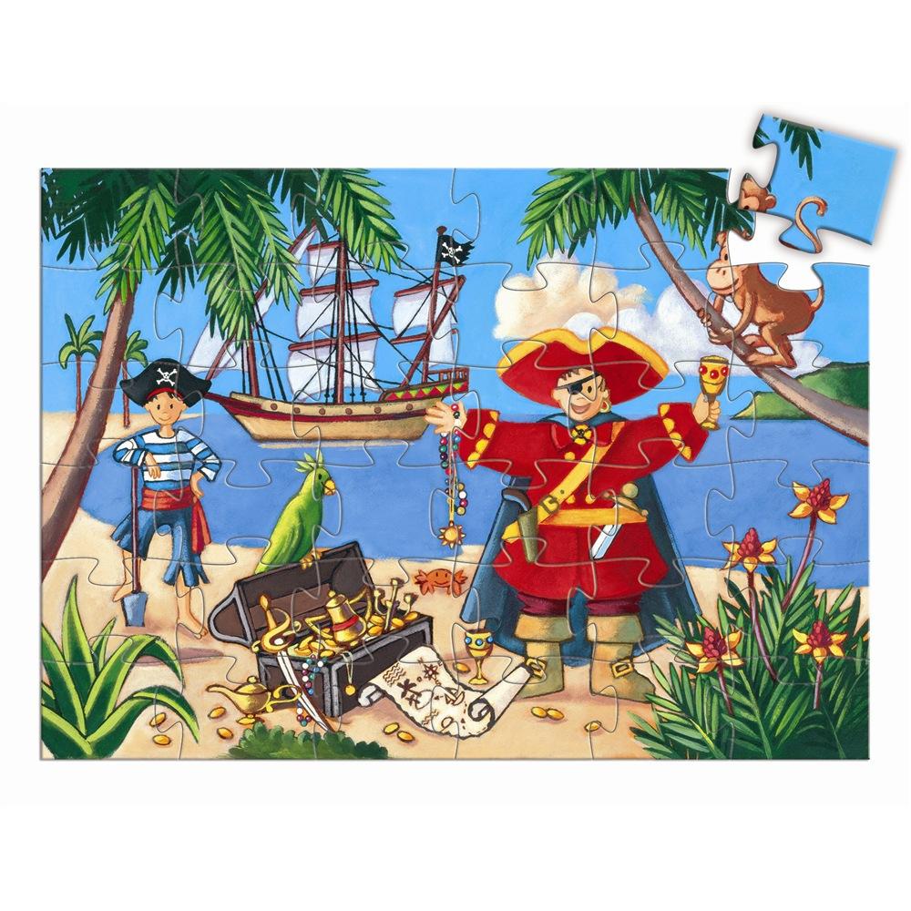 Puzzle il Pirata e il suo tesoro Djeco – 36 pezzi