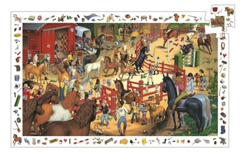 Puzzle Observation Equitazione Djeco – 200 pezzi