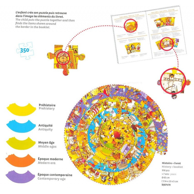 Puzzle Observation La Storia Djeco – 350 pezzi