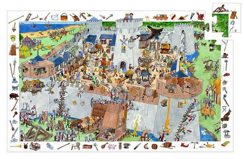 Puzzle Observation Il Castello Djeco – 100 pezzi