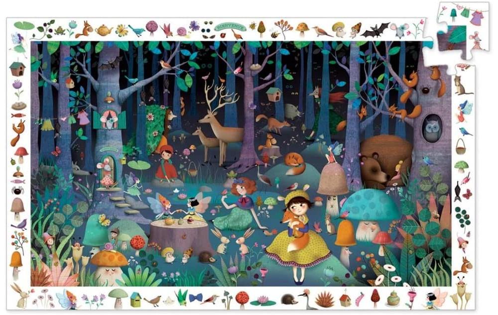 Puzzle Observation Foresta Incantata Djeco – 100 pezzi
