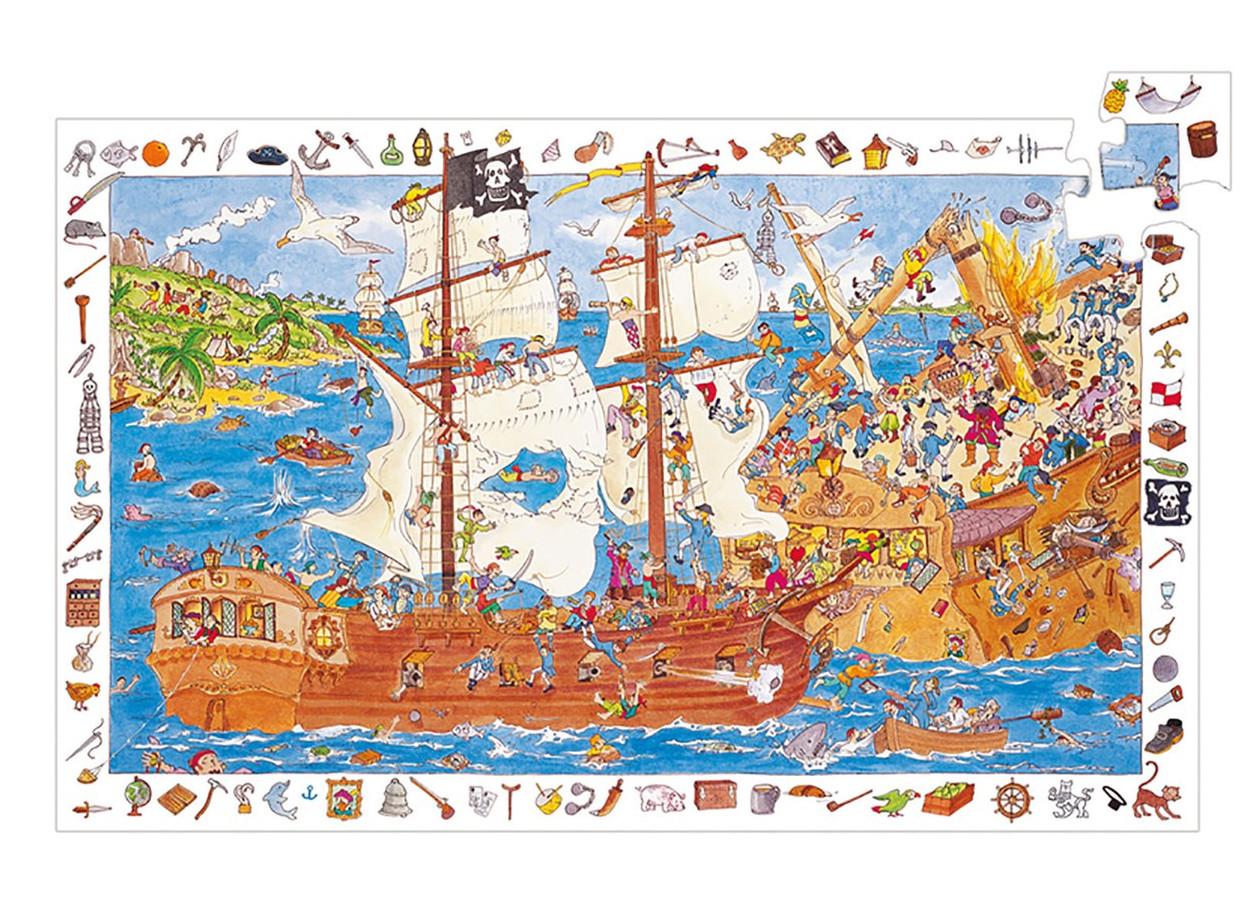 Puzzle Observation Pirati Djeco – 100 pezzi