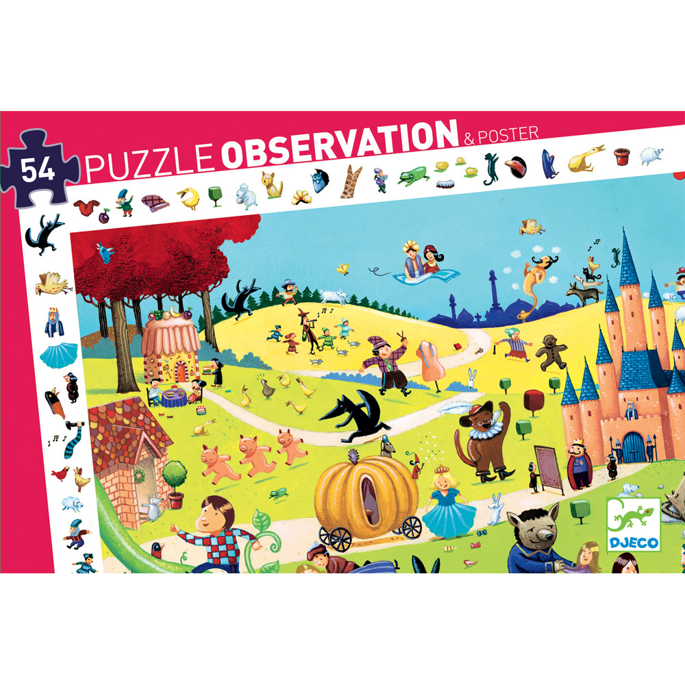 Puzzle Observation Fiabe Djeco – 54 pezzi