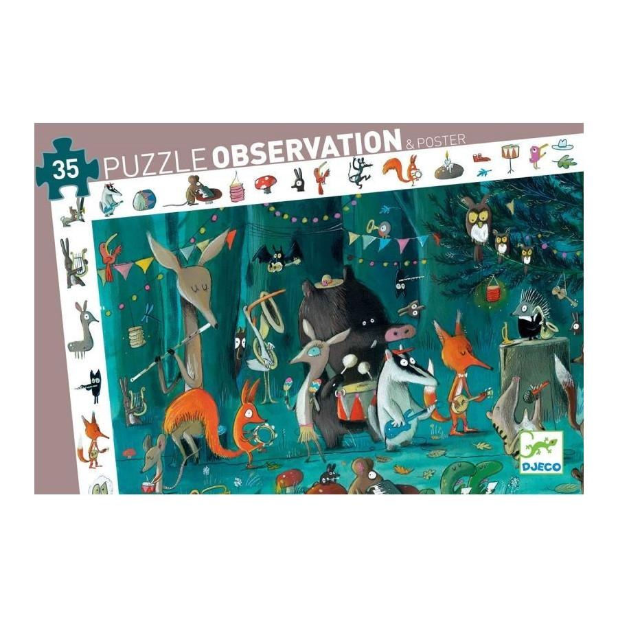 Puzzle Observation L'Orchestra Djeco – 35 pezzi