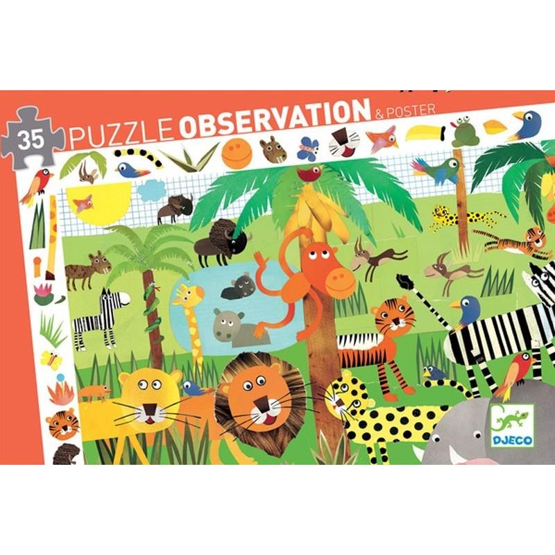 Puzzle Observation Giungla Djeco – 35 pezzi