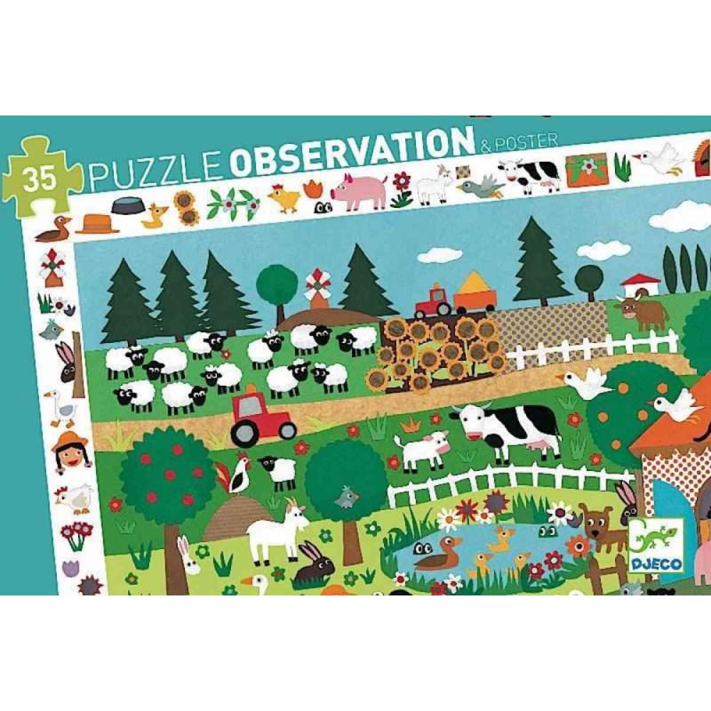 Puzzle Observation La Fattoria Djeco – 35 pezzi