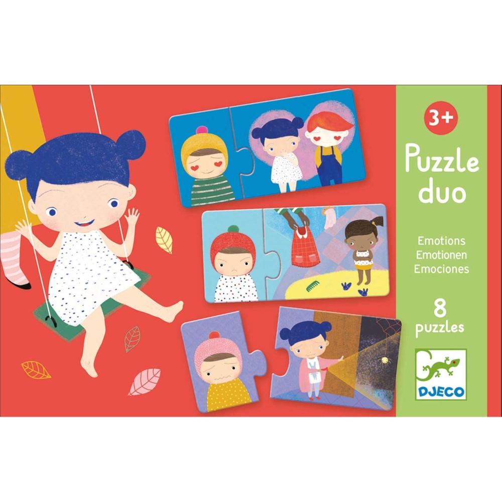 Puzzle Duo Emozioni Djeco