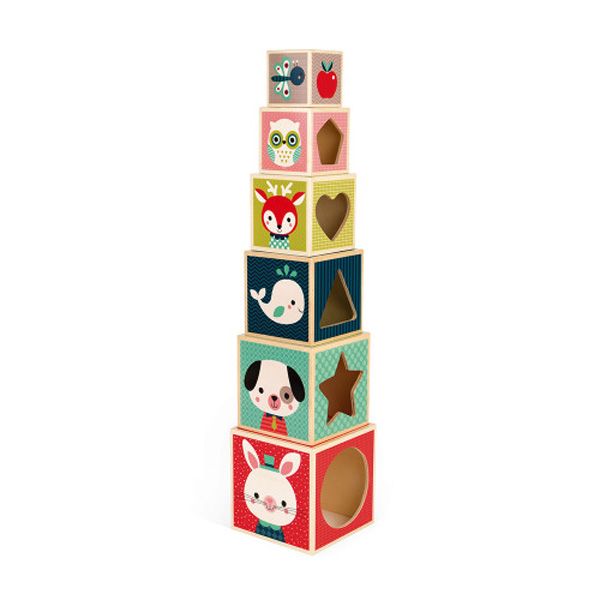 Piramide 6 cubi Baby Forest Janod